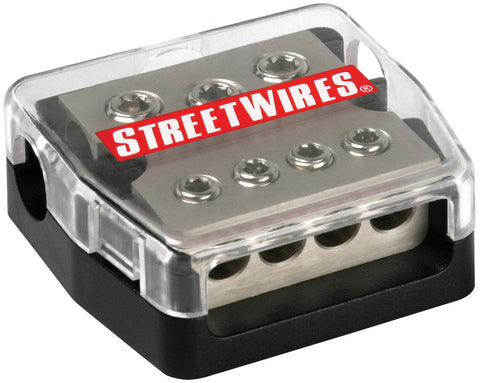 MTX StreetWires DBX3448 Distriution Block - 3x 4AWG In/ 4x 8AWG Out