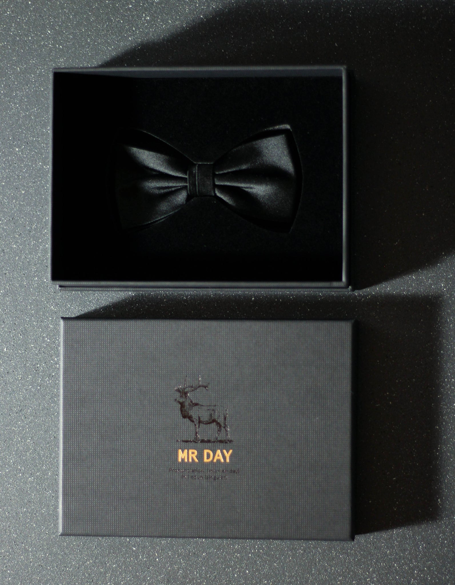 No. 56 Black Silk Bow Tie