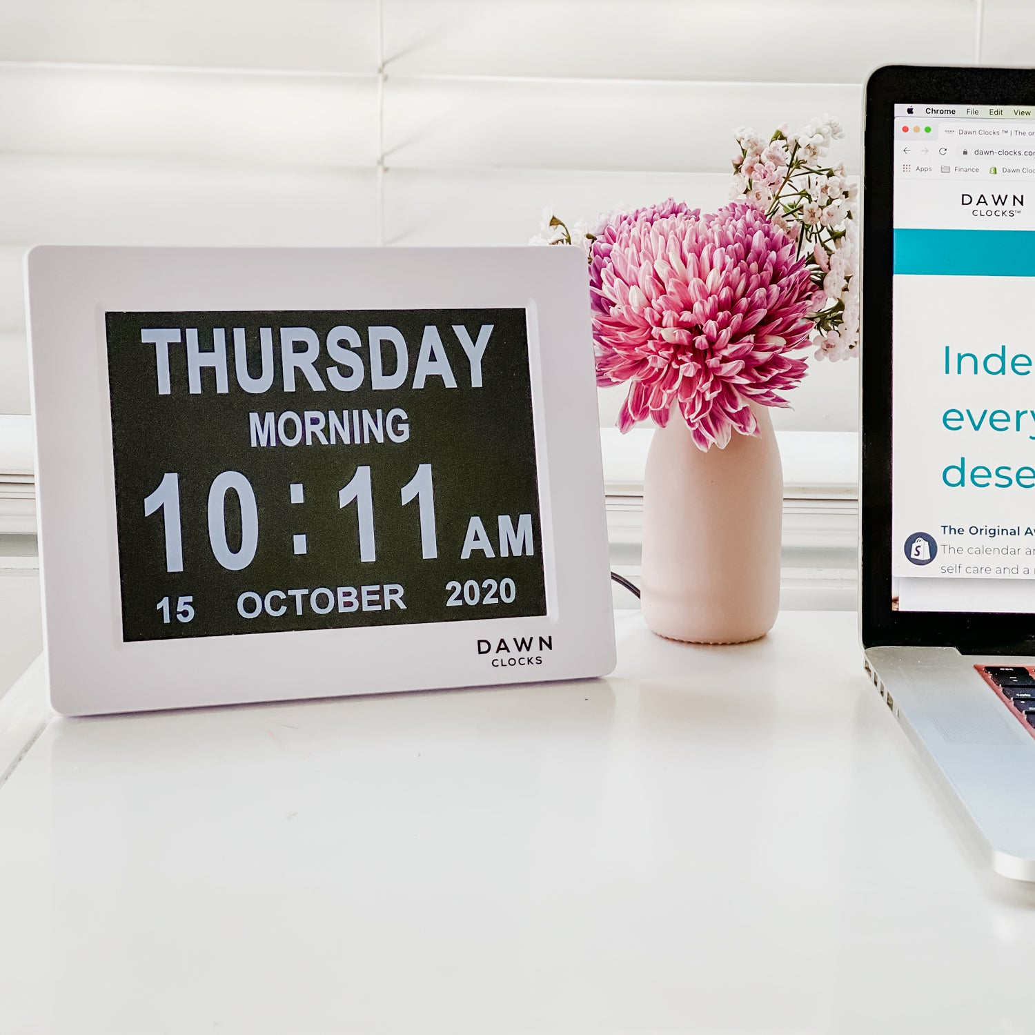 "Original Dawn Clock by Dawn Clocks™ - 8"" Digital Calendar & Reminder Clock"