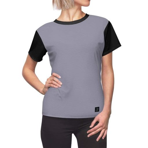JT Short Sleeve L / Black Seams / 4 oz. MOTION SHORT SLEEVE - BLUE MOON / BLACK yoga SoCal yoga clothing for women LA yoga clothing for you yoga poses yoga joy time joy time