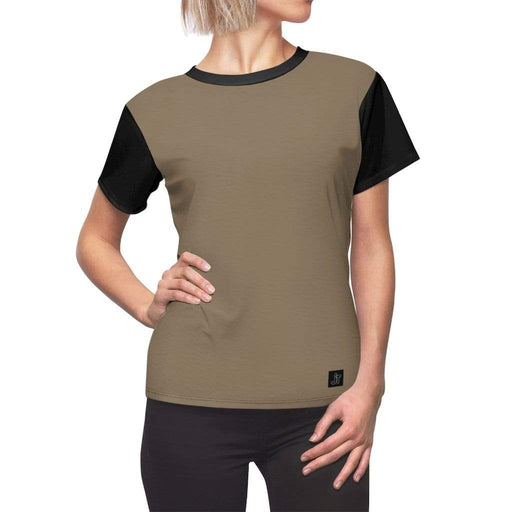 JT Short Sleeve L / Black Seams / 4 oz. MOTION SHORT SLEEVE - OLIVE BRANCH / BLACK yoga SoCal yoga clothing for women LA yoga clothing for you yoga poses yoga joy time joy time
