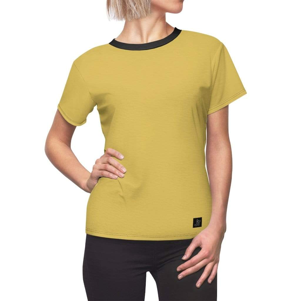 JT Short Sleeve L / Black Seams / 4 oz. MOTION SHORT SLEEVE - SULPHUR yoga SoCal yoga clothing for women LA yoga clothing for you yoga poses yoga joy time joy time