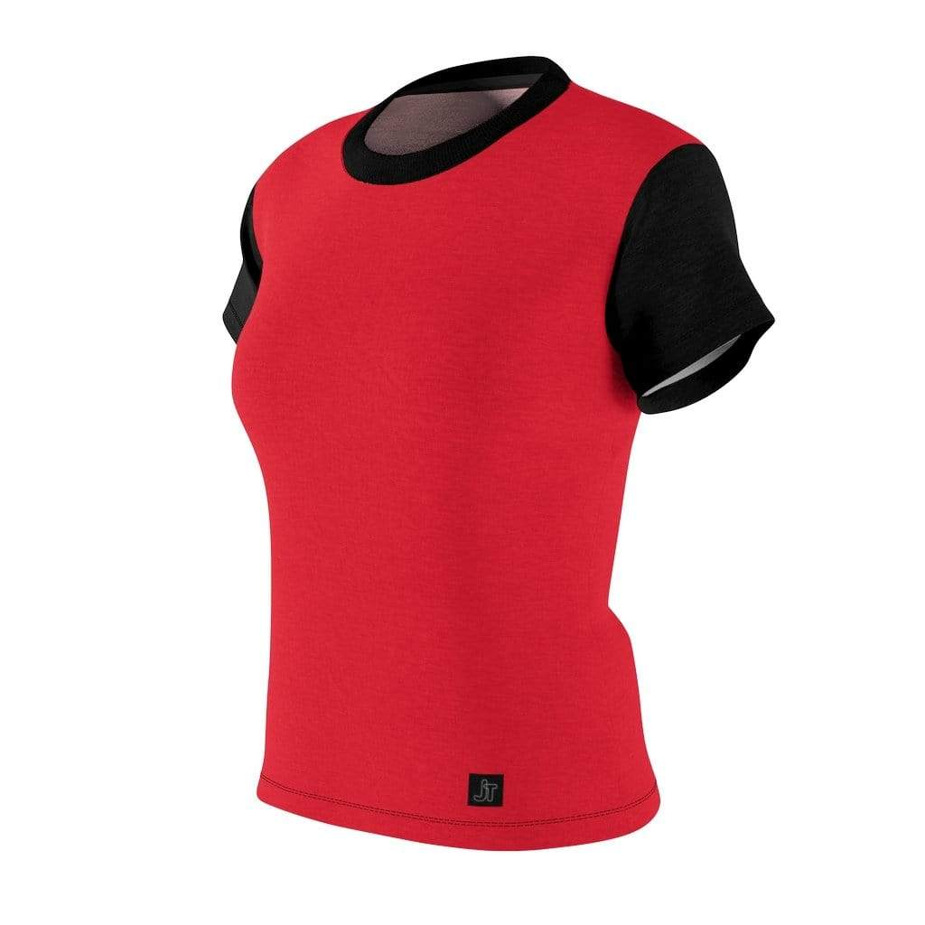 JT Short Sleeve MOTION SHORT SLEEVE - SCARLET / BLACK yoga SoCal yoga clothing for women LA yoga clothing for you yoga poses yoga joy time joy time
