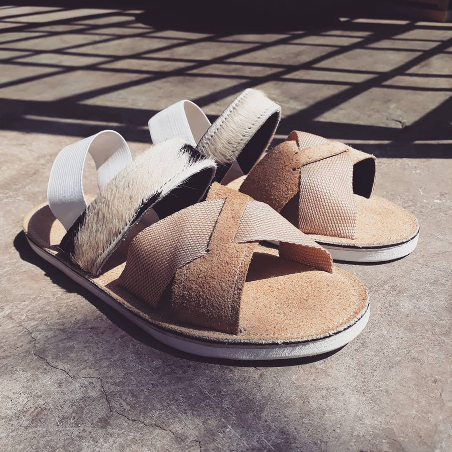 Unisex Nguni Criss-Cross Sandals