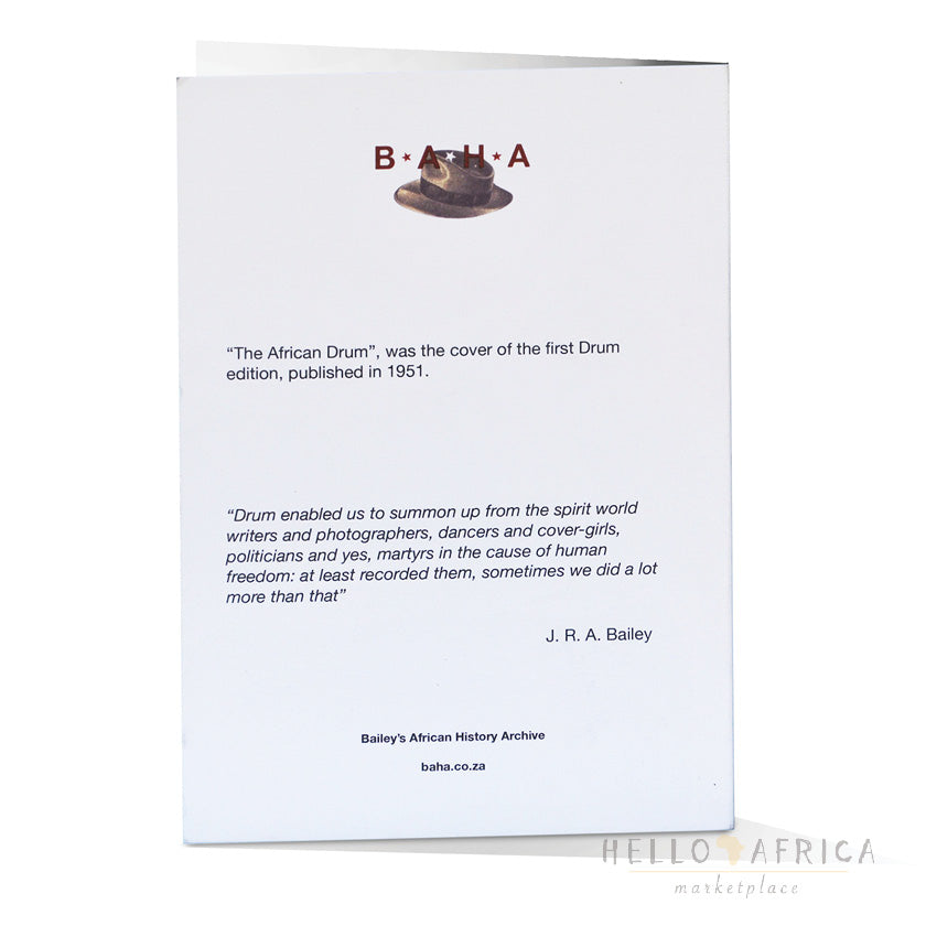 Drum Greeting Card : African Drum