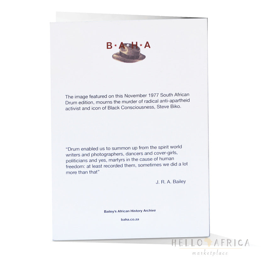 Drum Greeting Card : Steve Biko