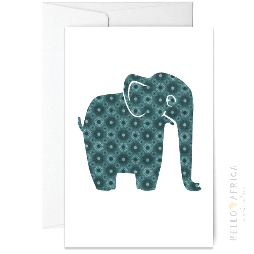 Blank Greeting Card : Elephant