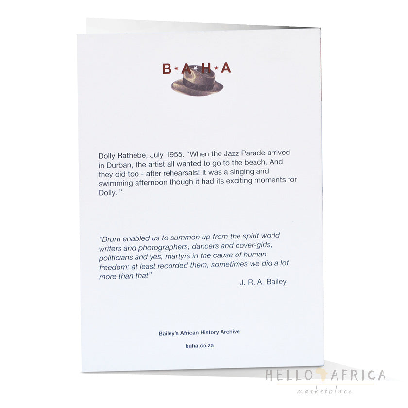 Drum Greeting Card : Dolly Radebe