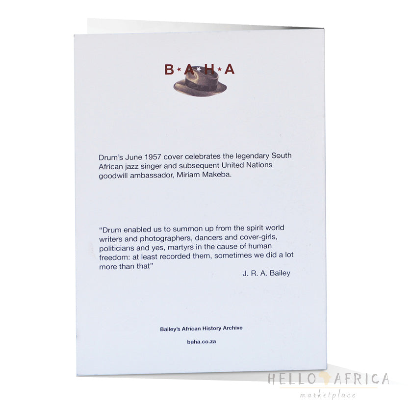 Drum Greeting Card : Mirriam Makeba