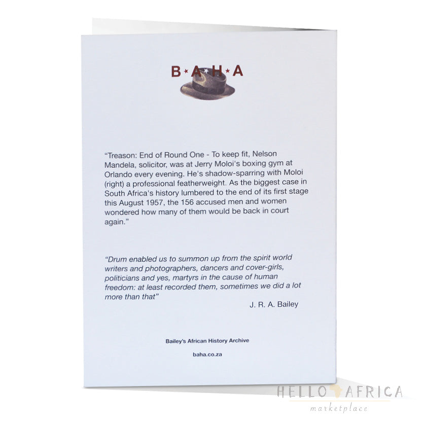 Drum Greeting Card : Nelson Mandela