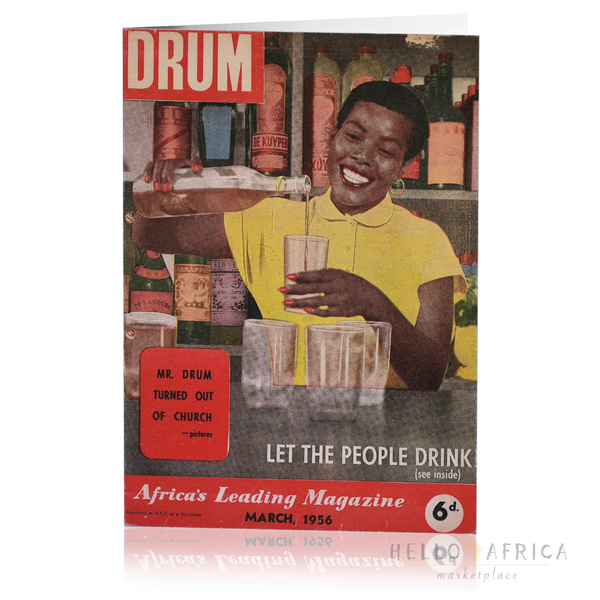 Drum Greeting Card : Let the People Drink