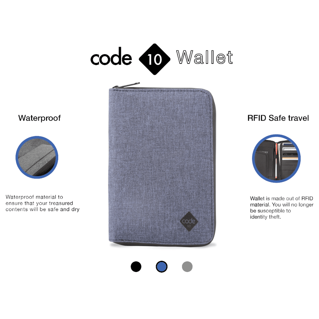 CODE 10 RFID Wallet - Product Description and Specifications