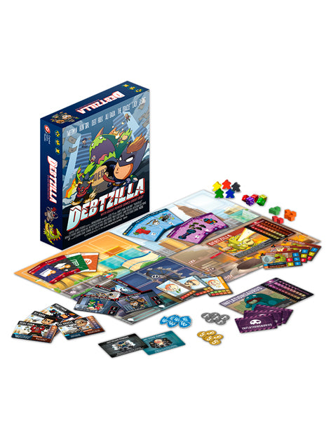 Debtzilla | Secret Identity Superhero Board Game