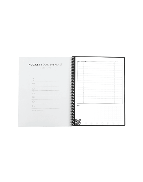 Rocketbook Fusion - Smart Reusable Notebook with Calendar, To-Do Lists, and Notepad