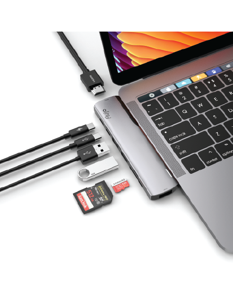 UltraPro X1 - 8 in 1 Multi-Function Adapter for Macbook Pro/Air by FLUJO