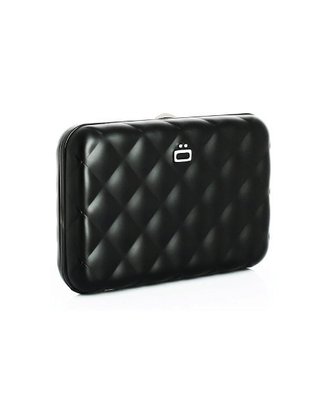 Black /ÖGON Quilted Button Card Case