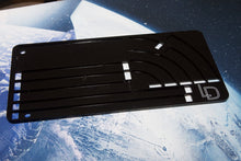 Acrylic X-Wing template tray