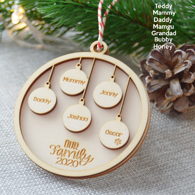 Personalised Christmas Tree Bauble