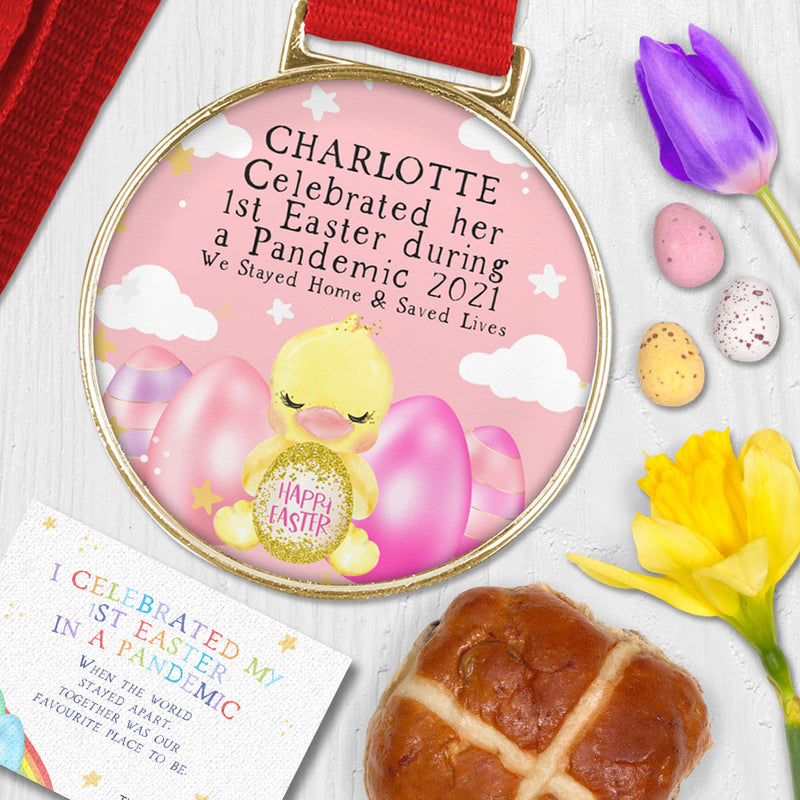Baby's First Easter Gifts - Lockdown Medal - Easter Baby Gift