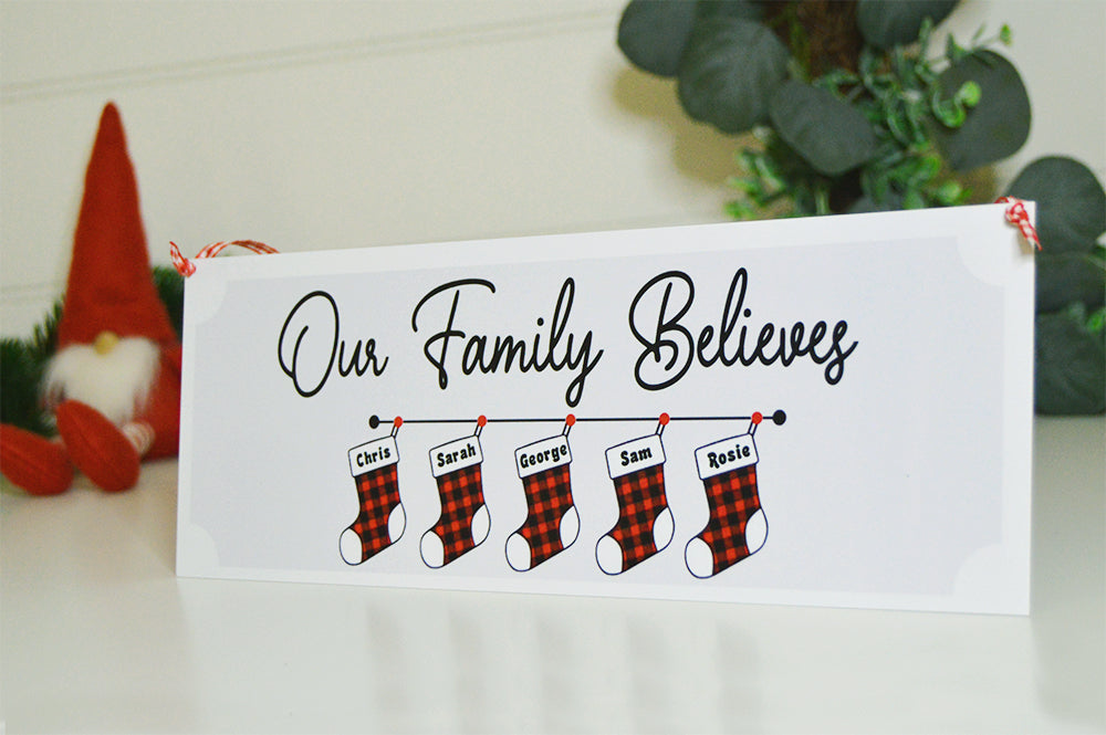 Personalised Christmas Stocking Sign