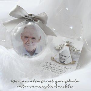 Angel Wings Keepsake Christmas Tree Ornament