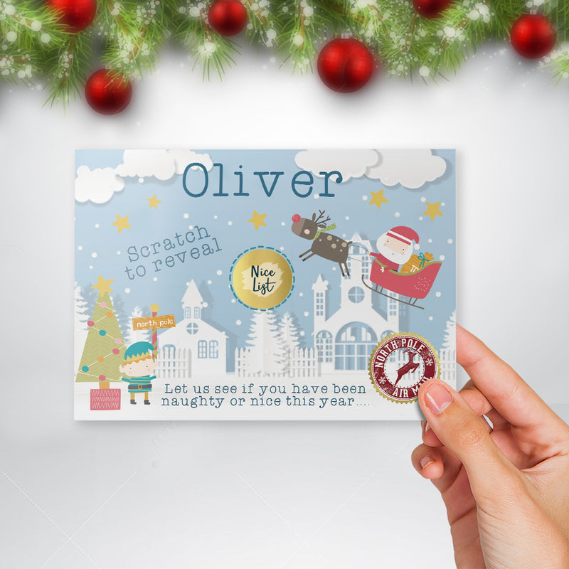Personalised Father Christmas Report Card