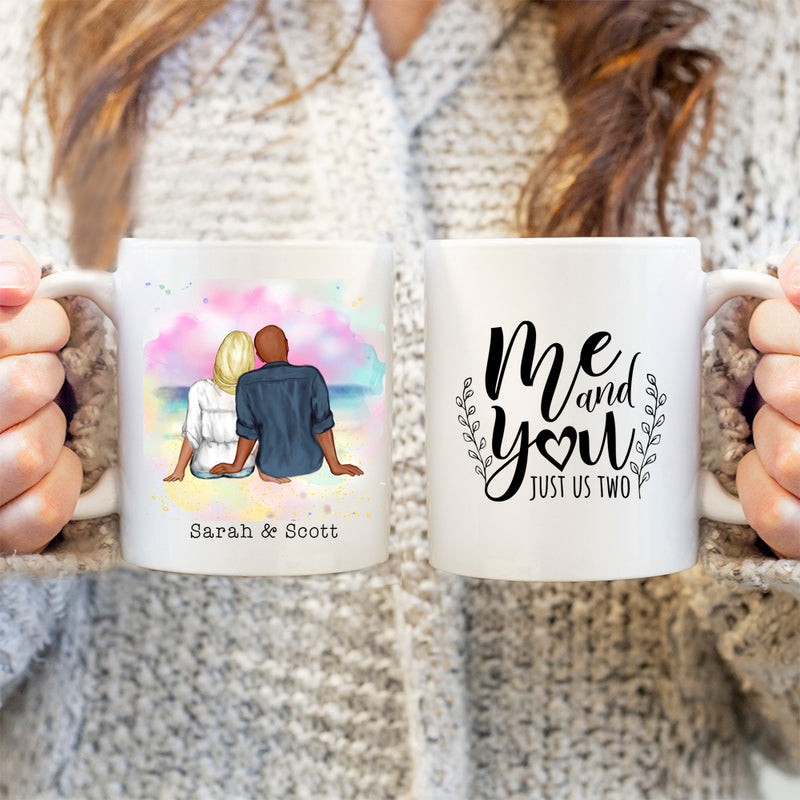 His & Hers Couples Mugs - Valentines Gift - Me and you just us two