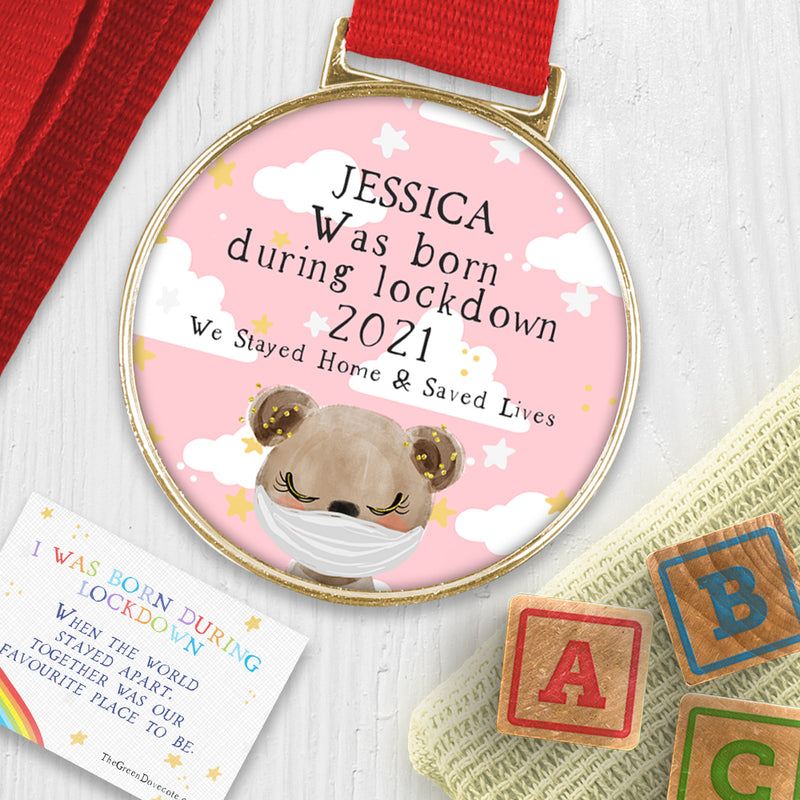 Baby 'I Was Born During Lockdown' Keepsake Medal