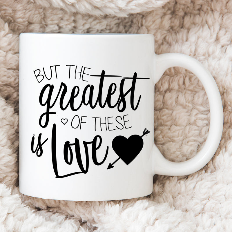 LGBT Couple - Personalised Mug - But The Greatest Of These Is Love
