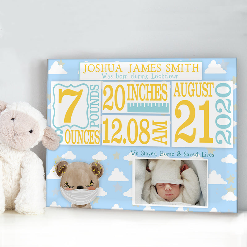 Personalised Custom Newborn Baby Birth Announcement
