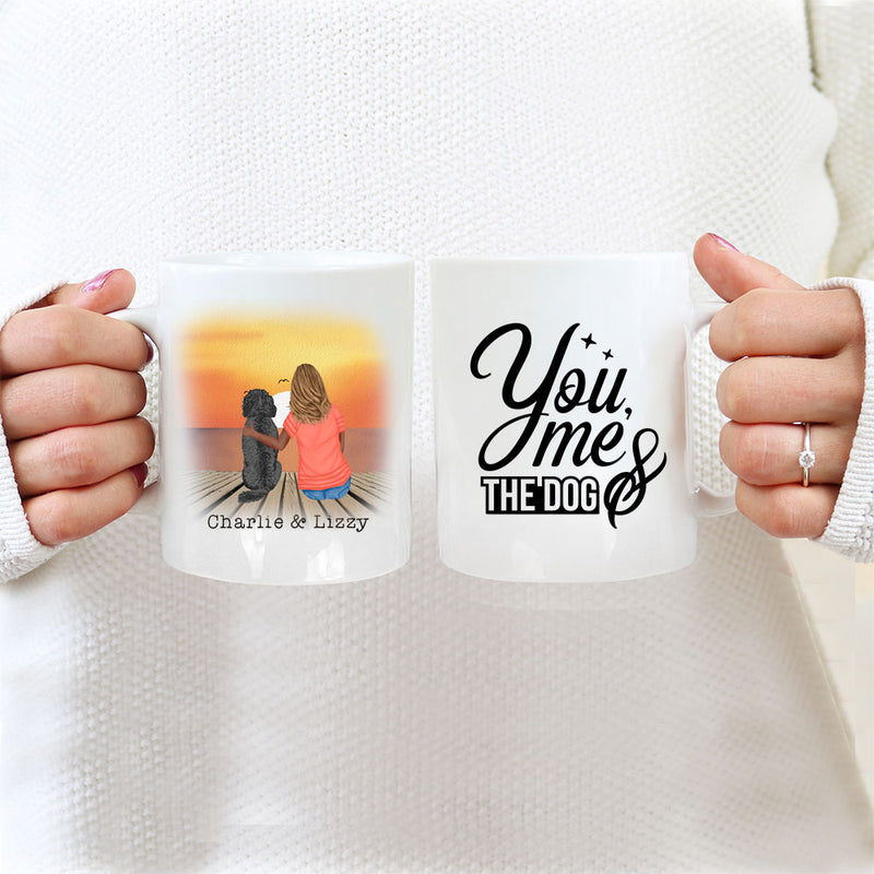 TheGreenDovecote_Personalised Dog Mug - Girl And Dog - You Me And The Dog