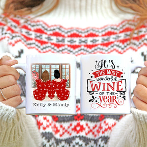 Personalised Mug - Best Friend Christmas Gift. It's The Most Wonderful Wine Of The Year