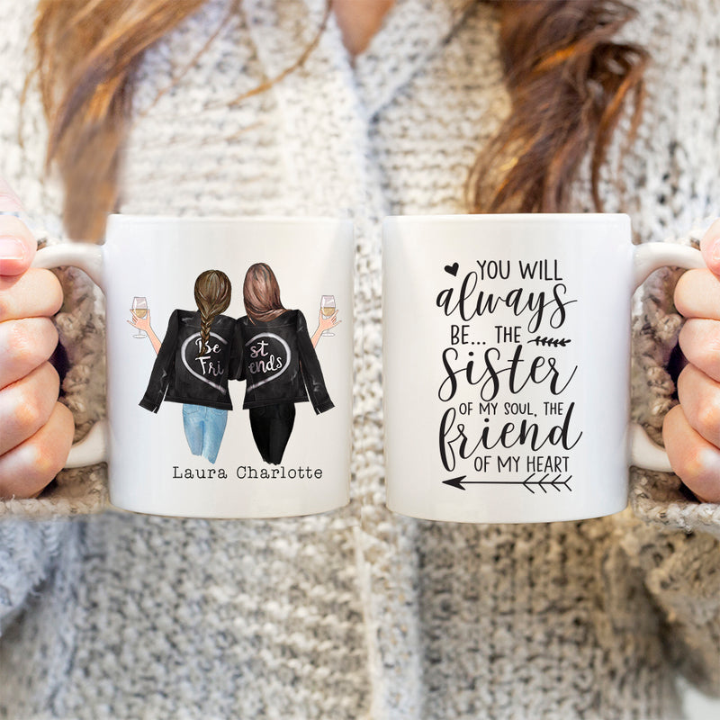 TheGreenDovecote-Personalised Mug - Best Friend Gift. You Will Always Be The Sister Of My Soul