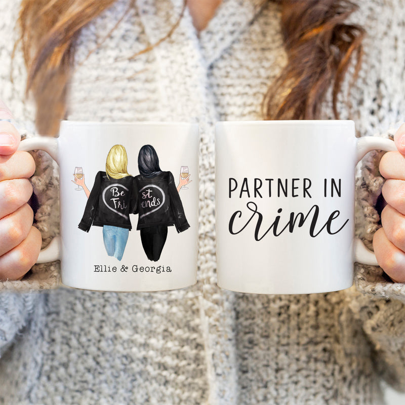 TheGreenDovecote-Personalised Mug. Best Friends. Partner In Crime