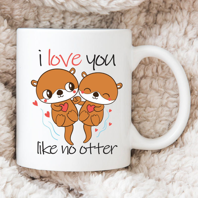 Personalised Valentines Day Gift - Happy Couple - I Love You Like No Otter