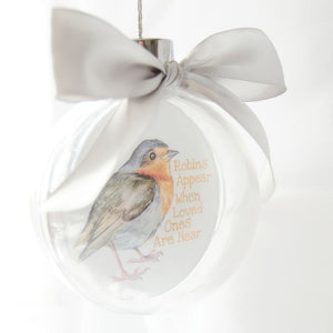 Robins Appear When Loved Ones Are Near Ornament