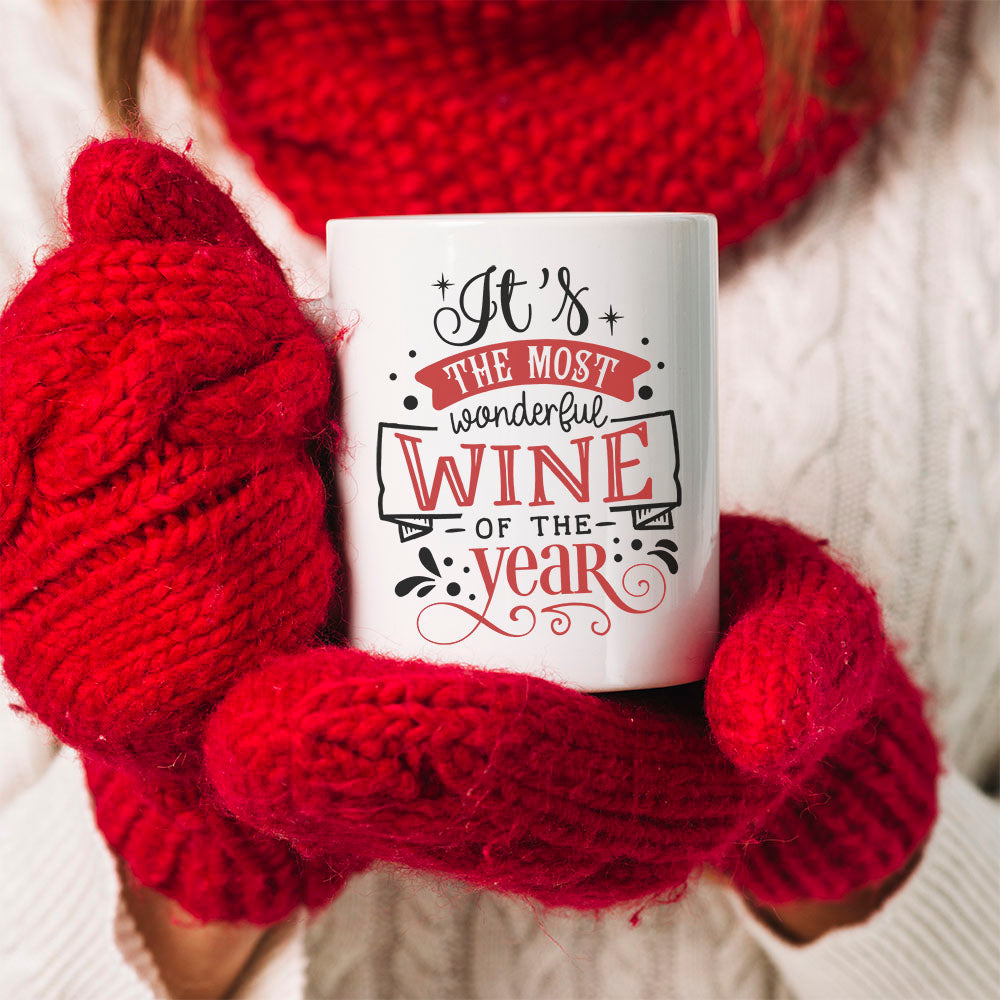 TheGreenDovecote_Personalised Mug - Best Friend Christmas Gift. It's The Most Wonderful Wine Of The Year