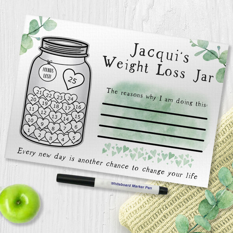 Weight Loss Tracker Chart - My Weight Loss Jar - Pounds Lost Chart