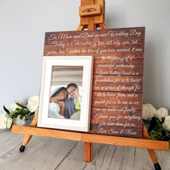 Parents Wedding Gift Frame White