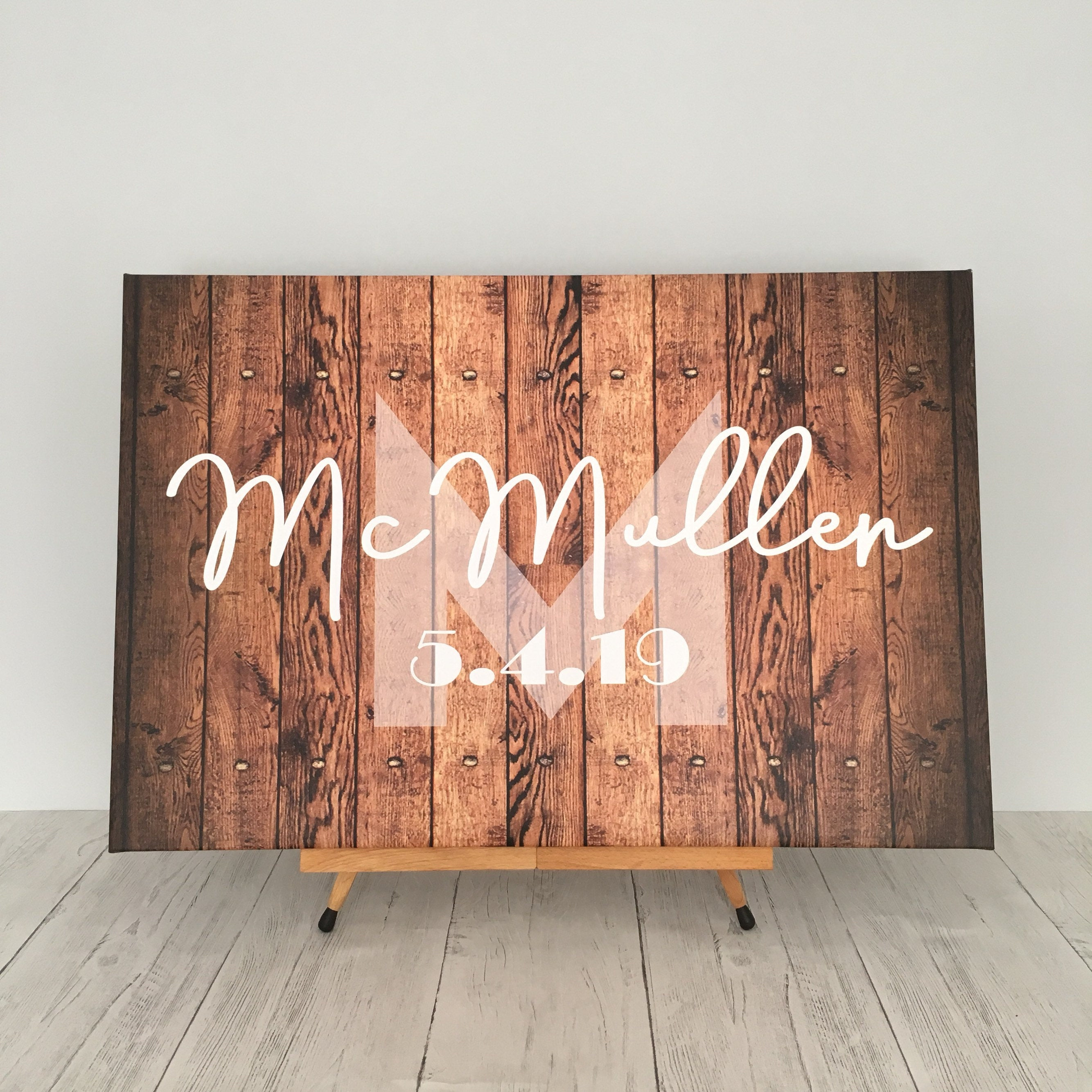 Personalized Wedding Guestbook Canvas Sign In