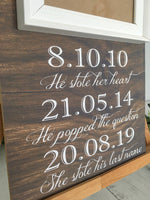 Load image into Gallery viewer, Save The Date Wooden Sign