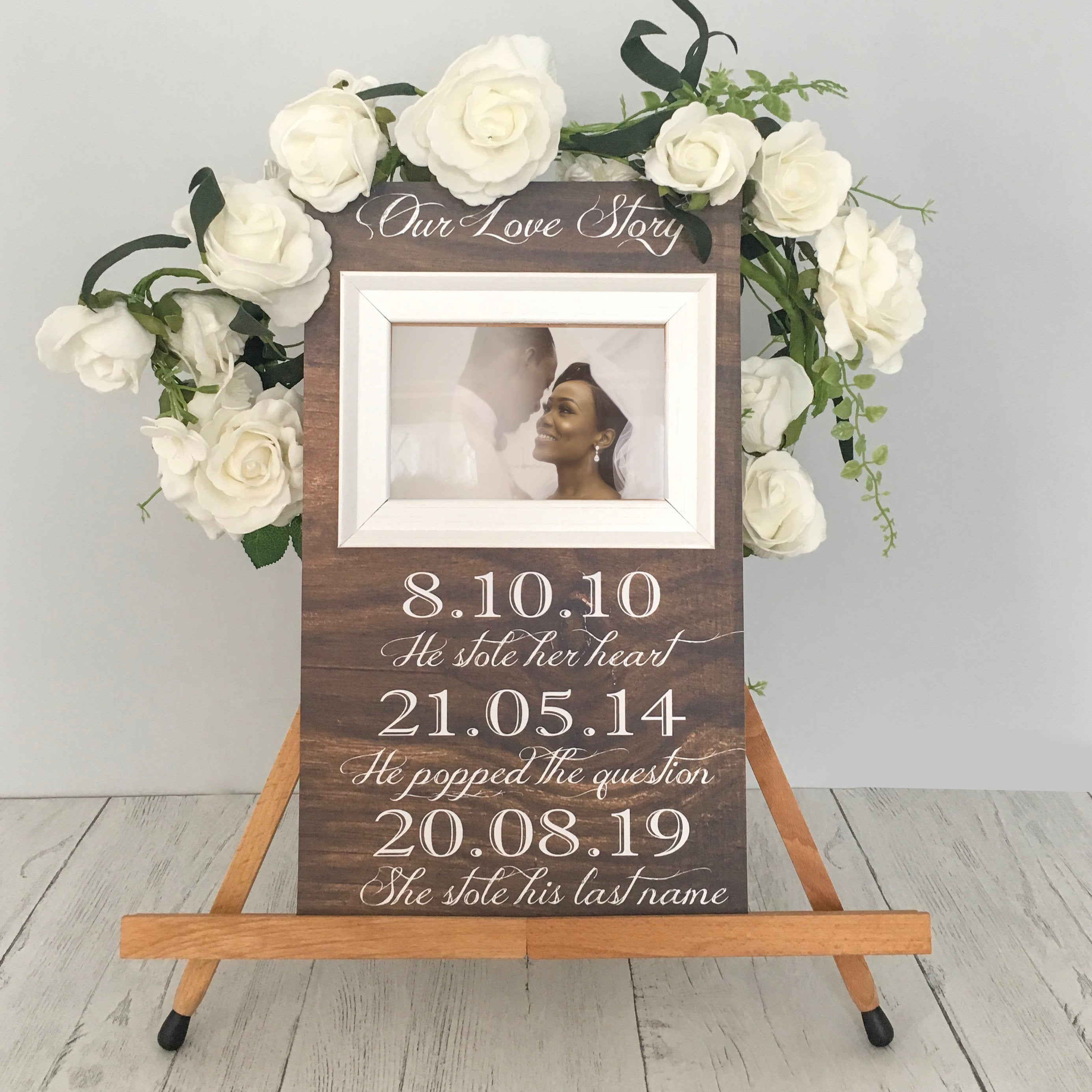 Save The Date Wooden Sign