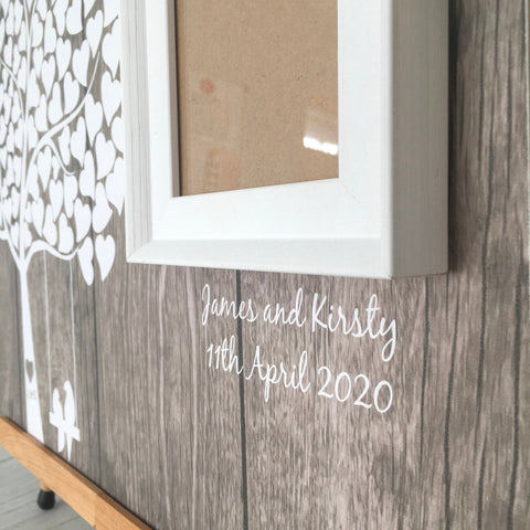 Alternative Wedding Wooden Frame Guest Book - Wood Guest Book - Wedding Reception Sign In - Wooden Love Heart Tree - Heart Shaped Guest Book
