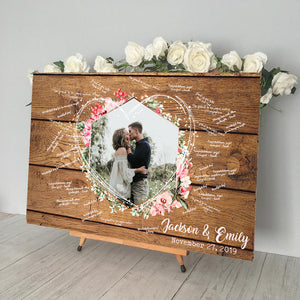 Wood Wedding Guest Book Alternative