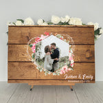 Load image into Gallery viewer, Wood Wedding Guest Book Alternative