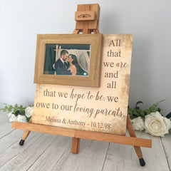 Personalized Wedding Frame For Loving Parents