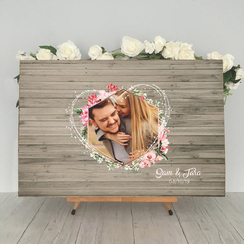 Rustic Wedding Guest Book Photo Alternative