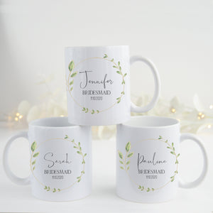 Personalised Bridesmaid Mug / Bridal Party Gifts / Best Friend Gift / Wedding Day Gift
