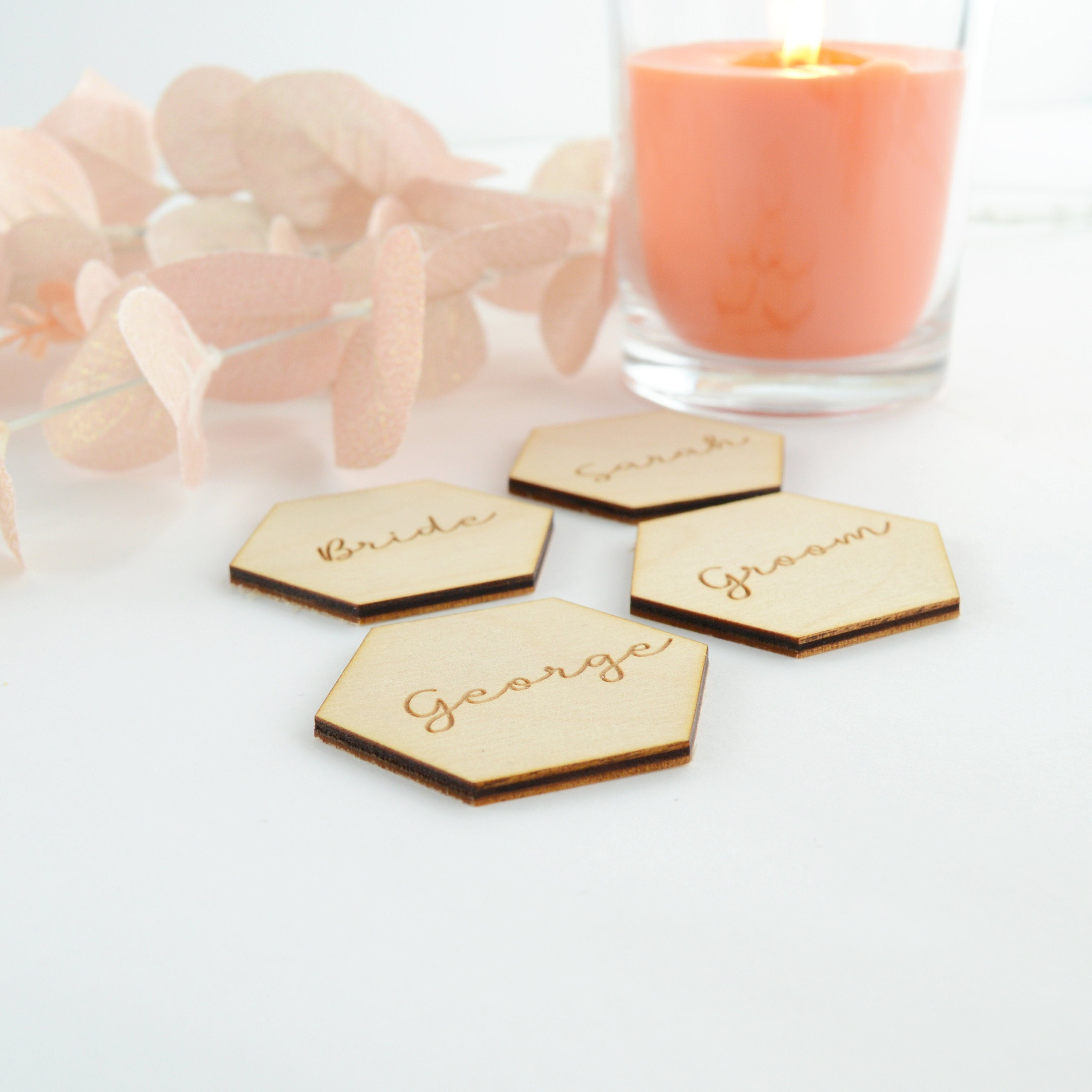 Wedding Place Cards / Laser Cut Names For Wedding Seating Plan / Name Cards For Wedding