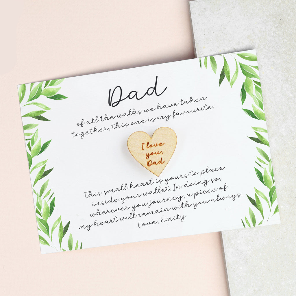 Father Of The Bride Gift / Daughter To Dad Gift / Father Of The Bride Wedding Card / Pocket Token Gift For Dad